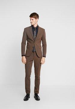 Lindbergh - PLAIN MENS SUIT - Anzug - brown melange