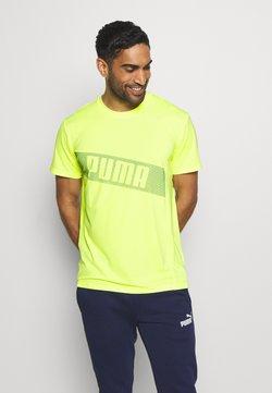 Puma - TRAIN GRAPHIC SHORT SLEEVE TEE - Printtipaita - fizzy yellow