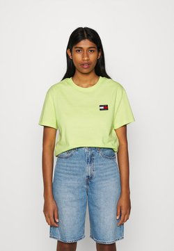 Tommy Jeans - BADGE TEE - Camiseta básica - faded lime