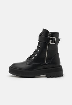 Even&Odd Wide Fit - Lace-up ankle boots - black