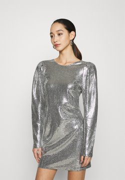 Gina Tricot - AUGUSTA SEQUINS DRESS EXCLUSIVE - Cocktail dress / Party dress - silver