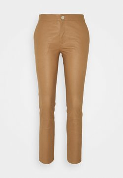 2nd Day - LEYA - Pantalon en cuir - golden camel