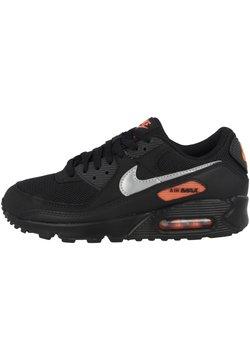 Nike Sportswear - AIR MAX 90 - Sneakers laag - black-total orange-reflect silver