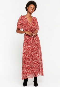 LolaLiza - WITH FLOWER PRINT - Maxikleid - red