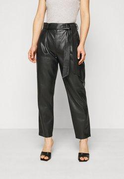 Dorothy Perkins Petite - BELTED TROUSER - Pantalones - black