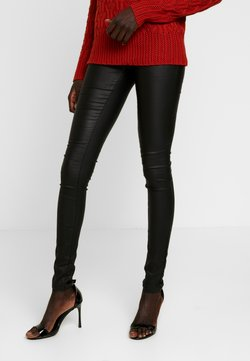 Object Tall - OBJBELLE COATED - Trousers - black