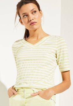 comma casual identity - MIT V-NECK - T-Shirt print - lemon