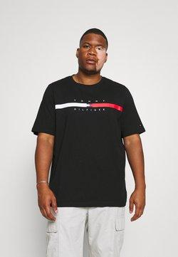 Tommy Hilfiger - GLOBAL STRIPE CHEST TEE - T-shirts print - black