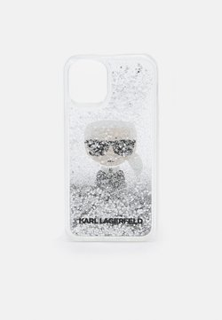KARL LAGERFELD - IKONIK GLITTER CASE IPHONE 12 MINI - Kännykkäpussi - transparent