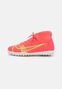 Nike Performance - MERCURIAL 8 CLUB TF UNISEX - Voetbalschoenen voor kunstgras - bright crimson/metallic silver