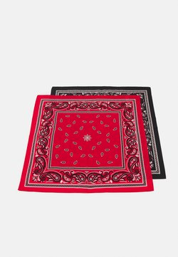 Zign - UNISEX 2 PACK - Foulard - black/red