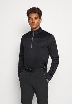 Callaway - PIECED 1/4 ZIP - Sweatshirt - caviar