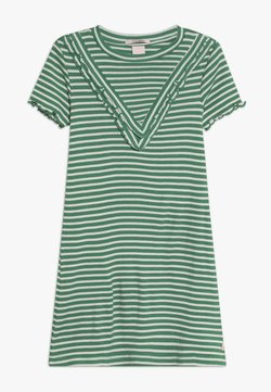 Scotch & Soda - DRESS IN A LINE FIT AND RUFFLE DETAILS - Jerseykleid - green/white