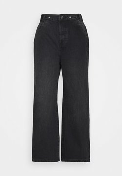 Noisy May Petite - NMASHLEY RELAXED WIDE LEG  - Jeans baggy - black