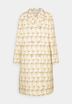Tory Burch - EMBROIDERED PEACOAT - Abrigo - caning ivory/sunny day/classic caramel