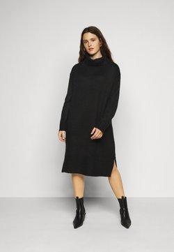 New Look Curves - ROLL NECK DRESS - Strickkleid - black