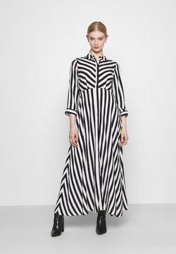 YAS - YASSAVANNA LONG DRESS - Maxiklänning - black/ white stripes