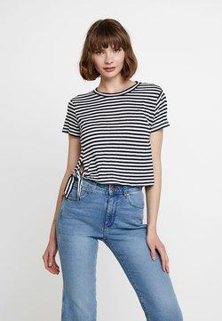 AllSaints - TUJEN STRIPE TEE - T-Shirt print - white/dark blue