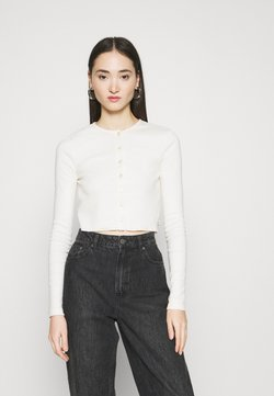 BDG Urban Outfitters - BUTTON DOWN CARDIGAN - Gilet - ivory