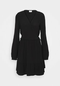 Vila - VIMESA WRAP DRESS - Freizeitkleid - black