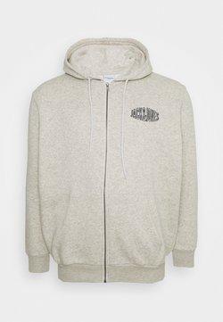 Jack & Jones - JORPRESTON ZIP HOOD  - veste en sweat zippée - white melange