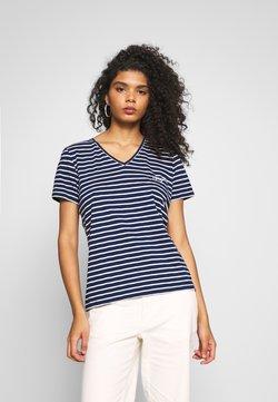 Superdry - ESSENTIAL VEE TEE - T-Shirt basic - navy stripe