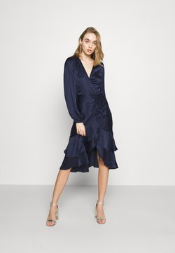 Nly by Nelly - EYES ON ME RUCHED DRESS - Vestido de cóctel - navy
