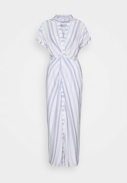 Club Monaco - MAXI TWIST FRONT DRESS - Maxikleid - white/blue