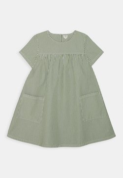 ARKET - DRESS - Freizeitkleid - green/white