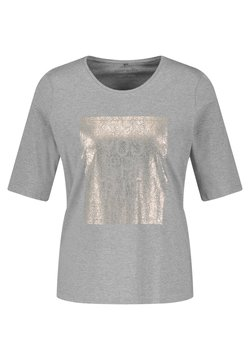 Gerry Weber - MIT FRONTPRINT GOTS - T-Shirt print - grey melange