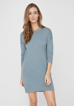 Vero Moda - VMMINNIECARE O NECK DRESS - Strickkleid - slate