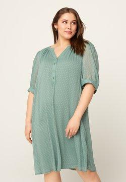 Zizzi - Vestido camisero - green