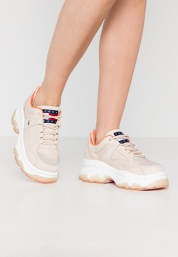 Tommy Jeans - FLATFORM SHOE - Trainers - smooth stone