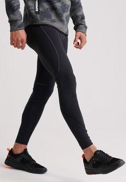 Superdry - SUPERDRY PERFORMANCE FLOCK COMPRESSION LEGGING - Jogginghose - black