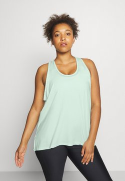 Under Armour - KNOCKOUT TANK - Funktionsshirt - seaglass blue