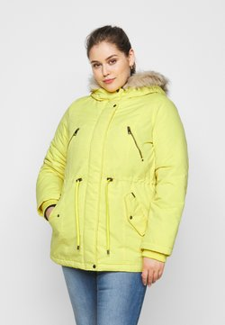 Vero Moda Curve - VMAGNESBEATE - Winter coat - celery
