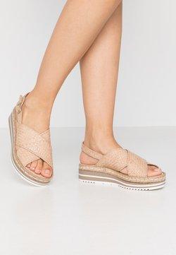 Pons Quintana - Korkeakorkoiset sandaalit - ivory/beige