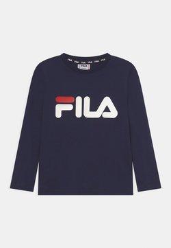 Fila - NICK LONG SLEEVE UNISEX - Camiseta de manga larga - black iris