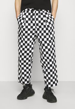 Vintage Supply - ELASTIC WAISTBAND BAGGY TROUSERS - Stoffhose - black/white