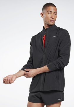 Reebok - WOVEN ESSENTIALS SPEEDWICK RUNNING JACKET - Windbreaker - black