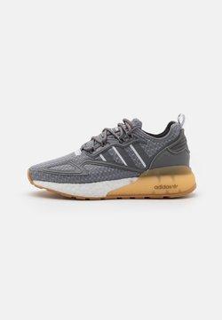 adidas Originals - ZX 2K BOOST UNISEX - Sneaker low - grey three/footwear white