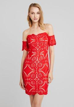Love Triangle - ATOMIC BOMB BARDOT DRESS - Vestido informal - red
