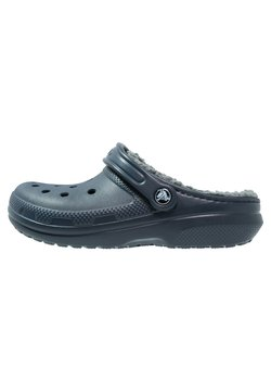Crocs - CLASSIC LINED ROOMY FIT - Clogs - navy/charcoal