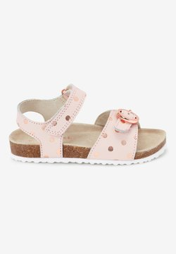 Next - GOLD GLITTER CORKBED BUCKLE - Lauflernschuh - light pink