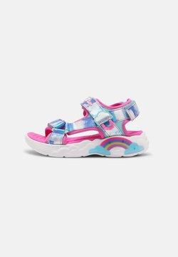 Skechers - RAINBOW RACER - Riemensandalette - pink/blue