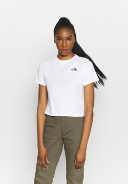 The North Face - FOUNDATION CROP TEE - T-Shirt basic - white