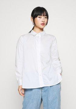 Selected Femme Petite - SLFORI SIDE ZIP PETIT - Camisa - bright white