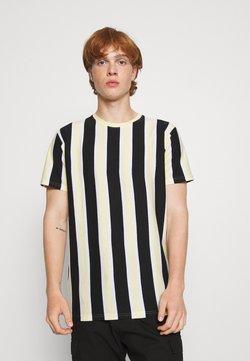 Denim Project - RAMIREZ TEE - T-Shirt print - black/pastell yellow/white
