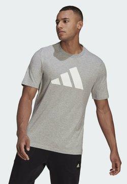 adidas Performance - BADGE OF SPORT - T-Shirt print - grey