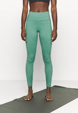Under Armour - MERIDIAN HEATHER LEGGING - Tights - saxon green
